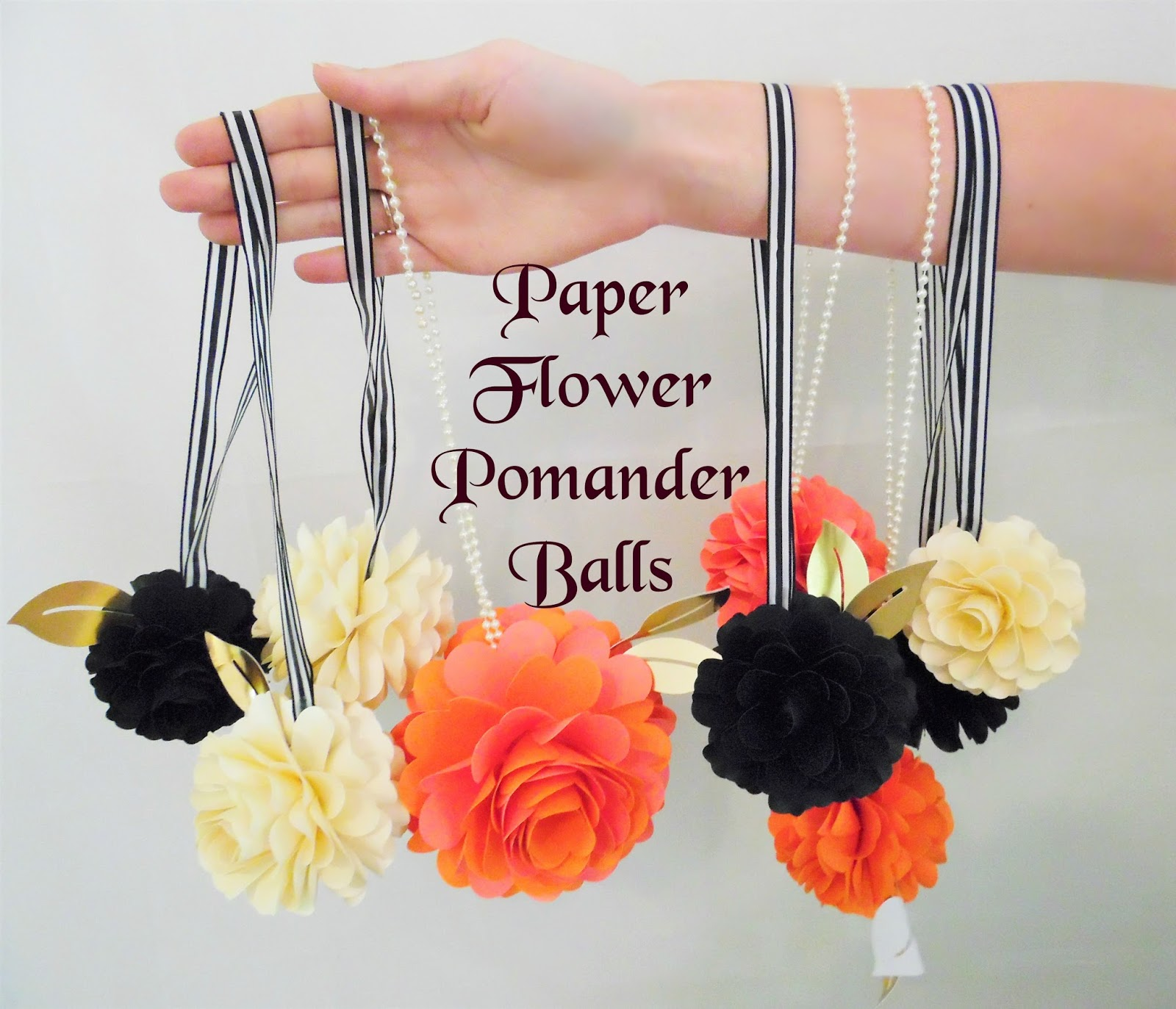 Mamas Gone Crafty Diy Paper Flower Pomander Rose Ball
