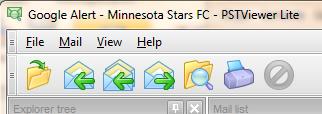 EmlViewer Lite functions in toolbar.
