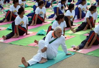 Narendra Modi in Yoga Asana