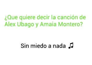 Significado de la canción Sin Miedo A Nada Alex Ubago Amaia Montero.