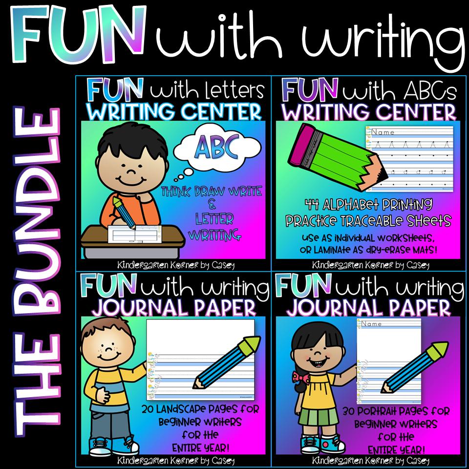 Creating Writing Centers in Kindergarten \u0026 1st Grade! - Kindergarten Korner [ 960 x 960 Pixel ]