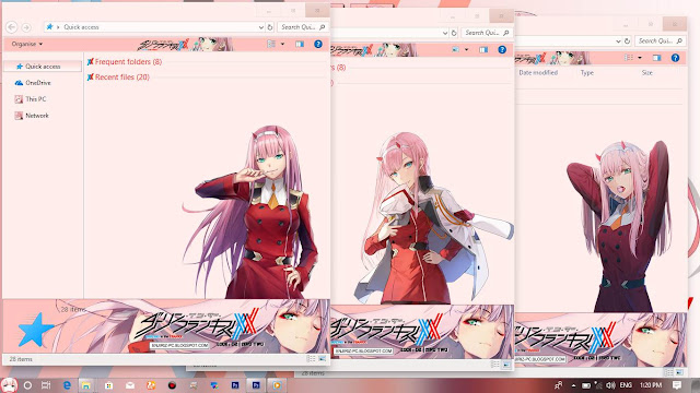 Windows 10 Ver. 1703 Theme Darling in the FranXX by Enji Riz