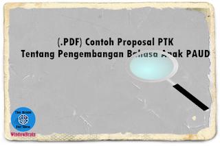 (.PDF) Contoh Proposal PTK Tentang Pengembangan Bahasa Anak PAUD