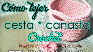 Cómo tejer cesta a crochet con el truco 1 x 3 / Tutorial