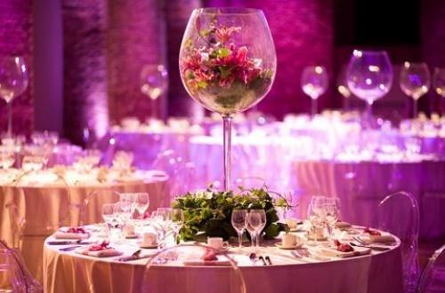 deco table mariage verre geant thème vin