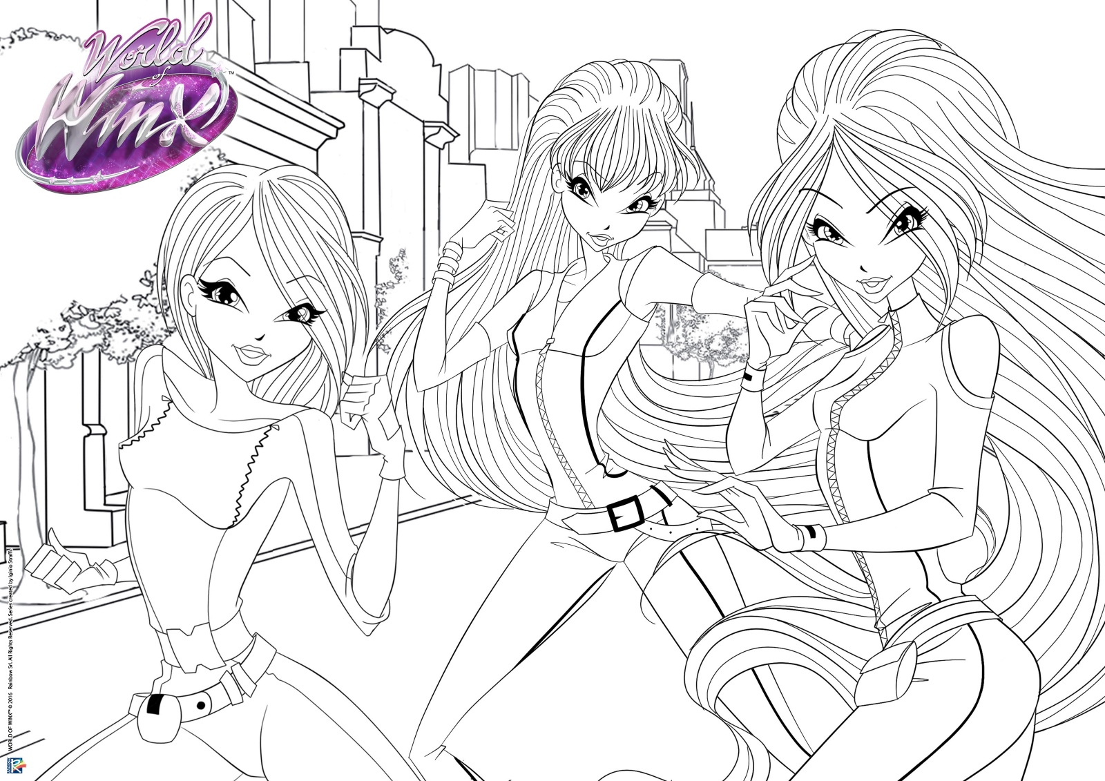 World Of Winx Winx Spy Coloring Pages Winx Club All