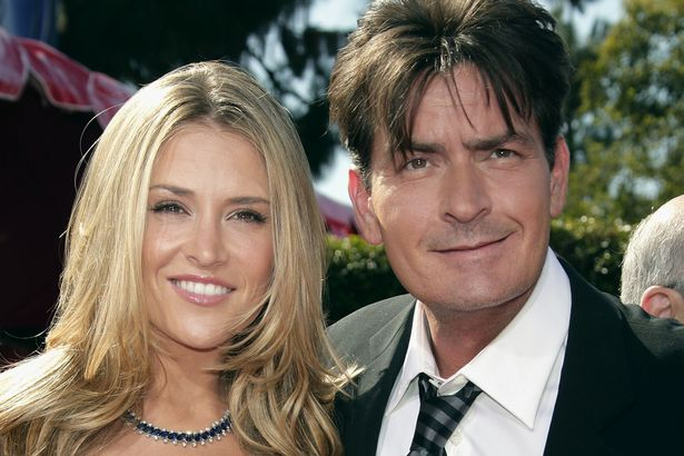 Actor-Charlie-Sheen-R-and-fiancee-Brooke-Mueller