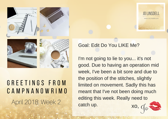 #CampNaNoWriMo Week 2 #WIP #AmEditing