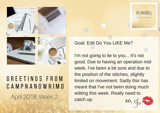 #CampNaNoWriMo Week 2 #WIP #AmEditing