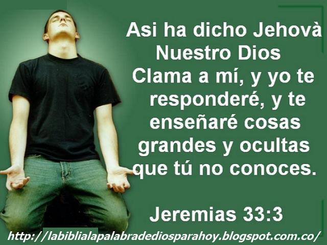 Rezar para pedir algo-Jeremías-33-3
