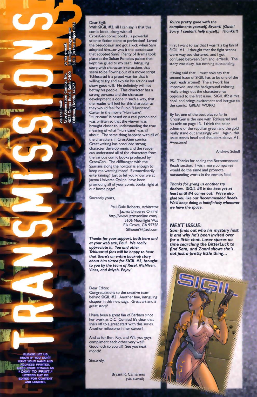 Read online Sigil (2000) comic -  Issue #3 - 26