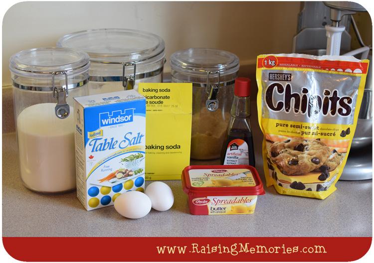 How to Make Chocolate Chip Cookies by www.RaisingMemories.com