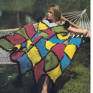 Easy Knitted Block Afghan Pattern from Bernat