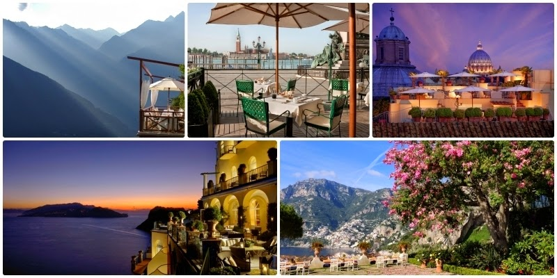viaggi e ricette ITALIA  PANORAMI IMPERDIBILI DALLE TERRAZZE DEI RELAIS  CHTEAUX