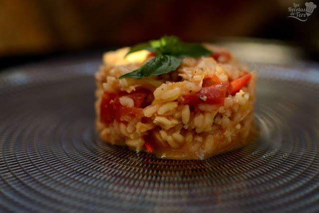 Risotto de pollo tomate y albahaca tererecetas 01