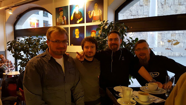 Friedensaktivisten bei denen ich nach München mitgefahren bin