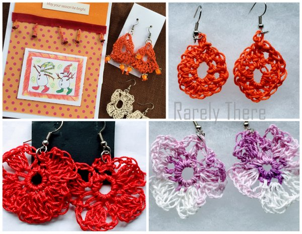 crochet ear rings