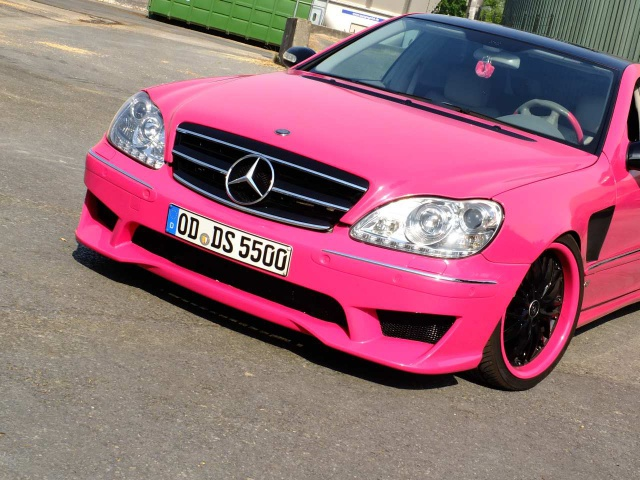 Mercedes benz w220 s55 amg pink on barracuda voltec wheels for Pink mercedes benz