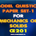 KTU Model Question Paper for Mechanics of Solids CE201 (Set1)