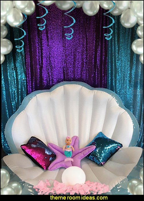 mermaid party decorations ermaids pillows    mermaid party decorations - mermaid party ideas - mermaid themed birthday party - ocean theme party decorations - under the sea party - little mermaid birthday party ideas - beach party - water theme parties - mermaid table decor - party props  under the sea birthday party - under the sea theme party table