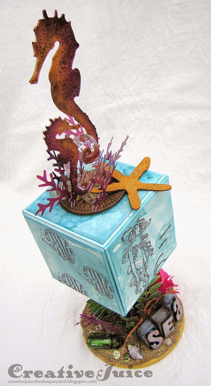 Lisa Hoel - Sea Themed Artist Trading Block