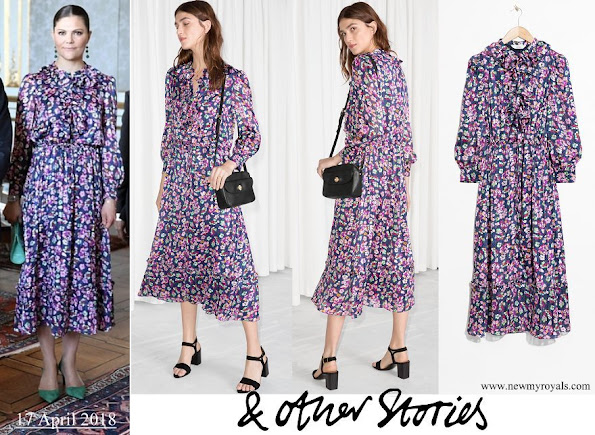 Crown Princess Victoria wore &Other Stories Floral Print Maxi Dress