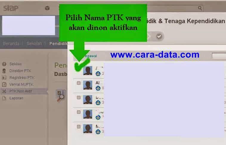 Pilih Nama PTK