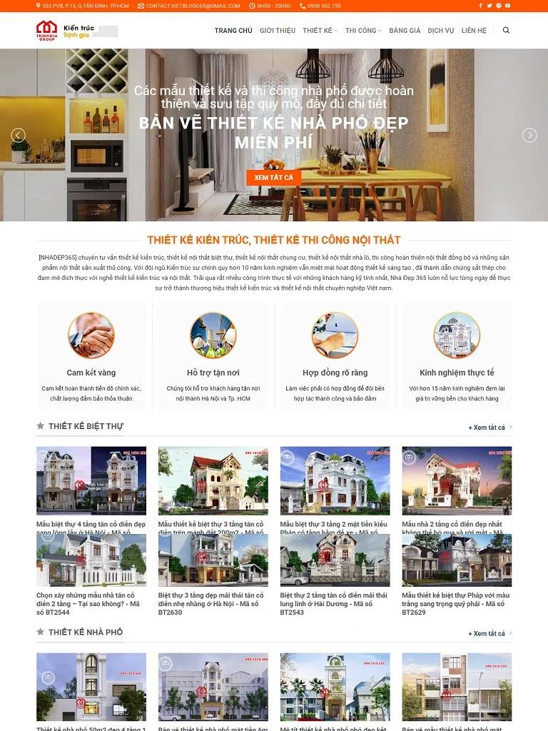 Template Blogspot kiến trúc nội thất đẹp chuẩn seo - Ảnh 1