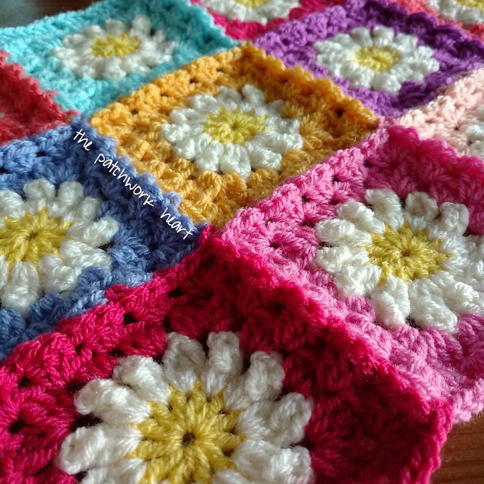 The Patchwork Heart: The Daisy Blanket