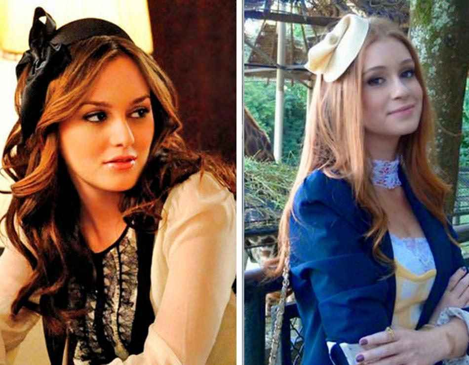Blair Waldorf e Nicole de amor a vida, figurinos semelhantes