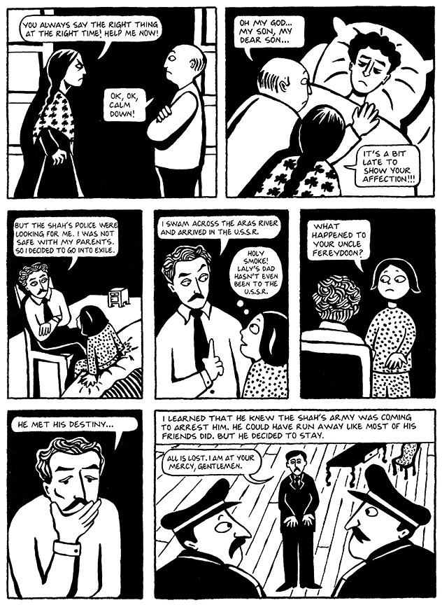 Read Chapter 8 - Moscow, page 55, from Marjane Satrapi's Persepolis 1 - The Story of a Childhood