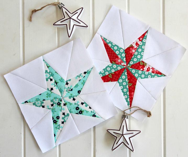 Threadbare Creations: Christmas Star- Free Quilt Block Pattern : christmas star quilt block - Adamdwight.com