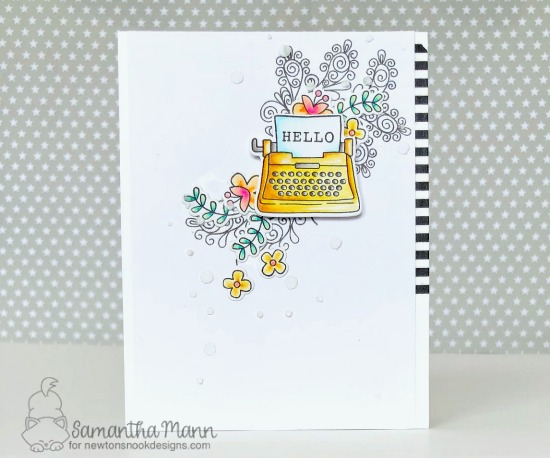 Typewriter Valentine Card by Samantha Mann | My Type, Beautiful Plumage and Tourcan Party Stamp Sets by Newton's Nook Designs #newtonsnook #handmade