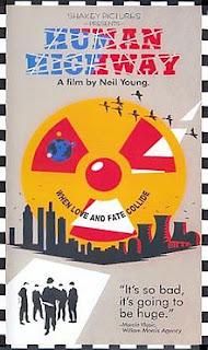 Portada del VHS de la película Human Highway, de Neil Young