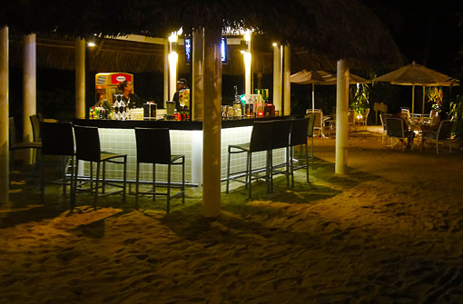Beach bar from the Hard Rock Hotel at the waterfront