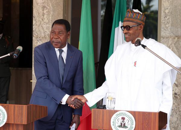 President Boni Yayi and President Muhammadu Buhari