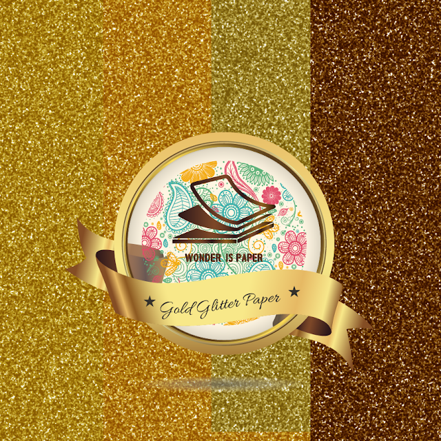 Glitter Paper: Dorados.
