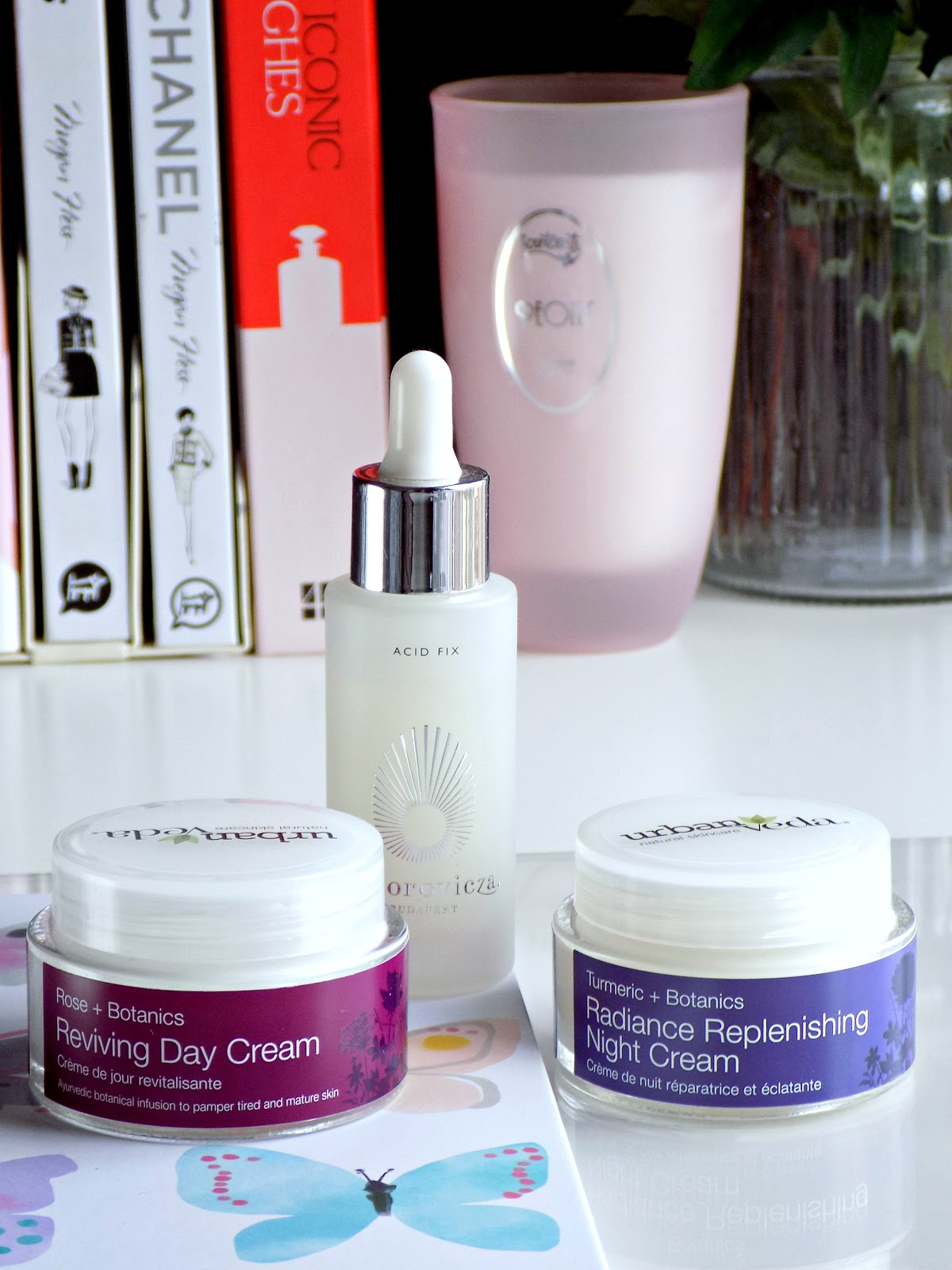 Omorovicza Acid Fix and Urban Veda moisturisers