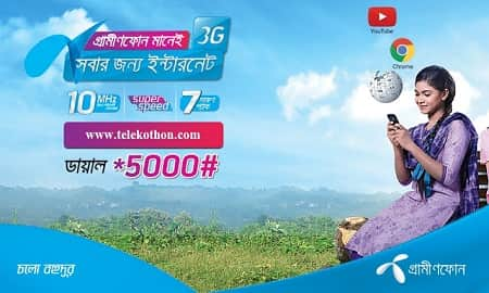 Grameenphone 3G Internet Data Packages