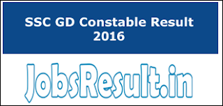 SSC GD Constable Result 2016