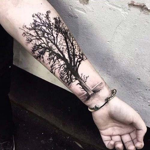 kara ağaç dövmesi black tree tattoo