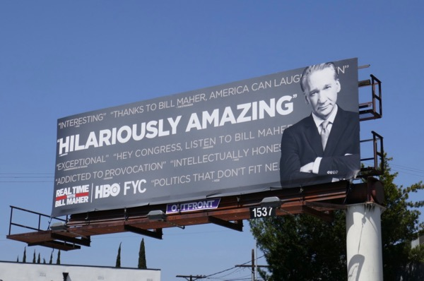 Bill Maher season 16 Emmy FYC billboard