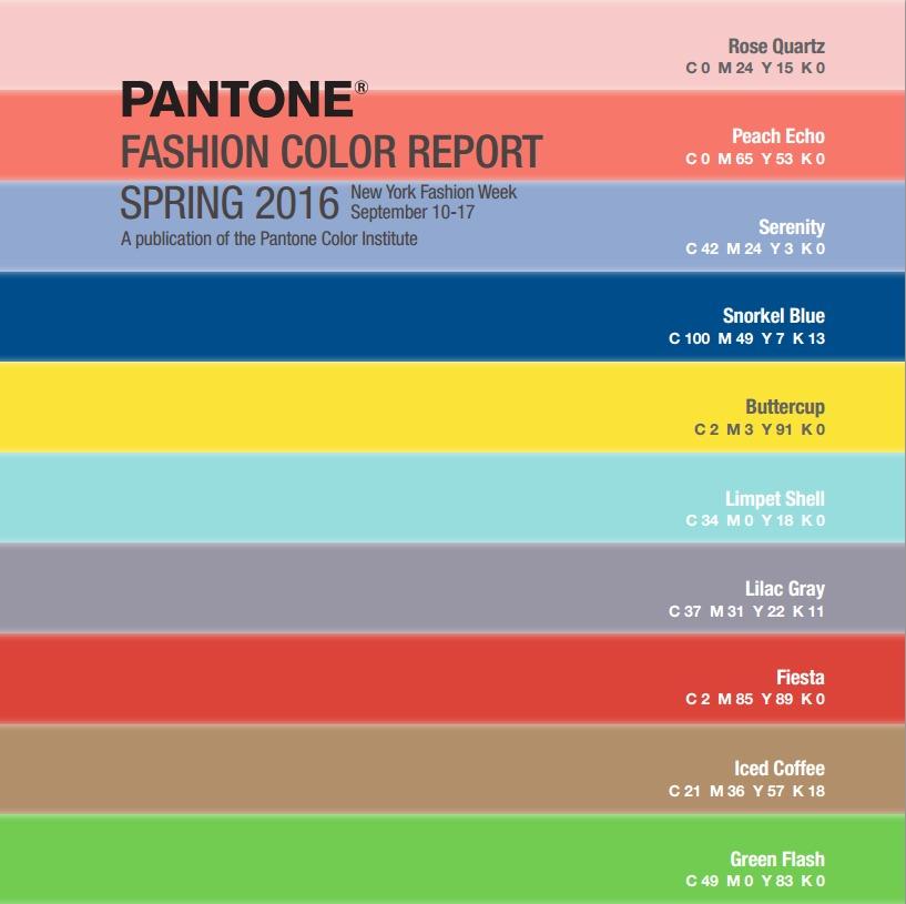 Top 10 des couleurs tendance printemps 2016