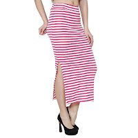 pink pencil shaped skirt