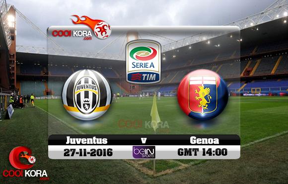 مشاهدة مباراة جنوى ويوفنتوس اليوم 27-10-2016 في الدوري الإيطالي