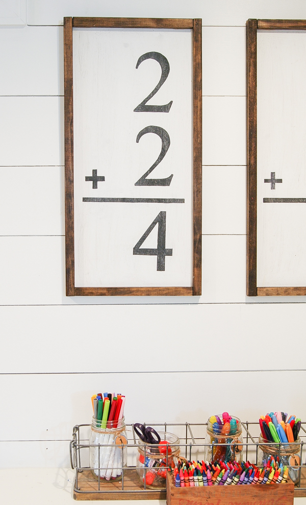 How to make DIY giant flash card wall art