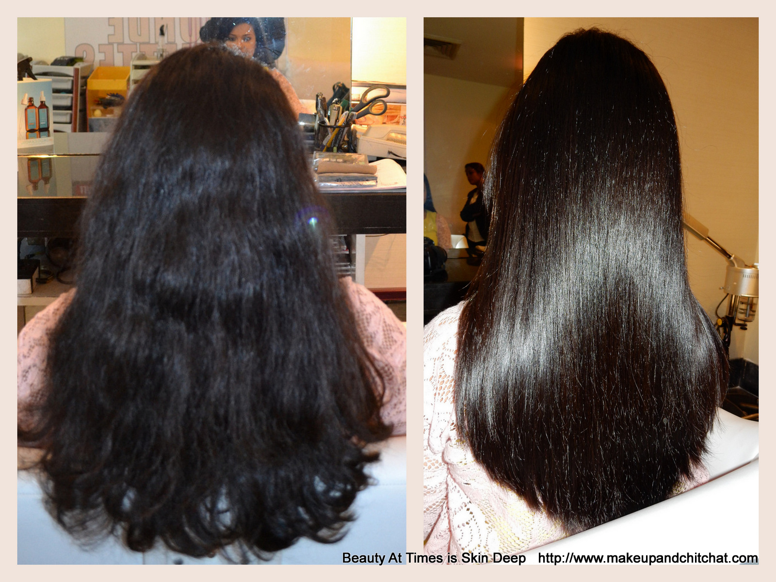 Before And After Moroccanoil Hair Smoothing Spa Treatment