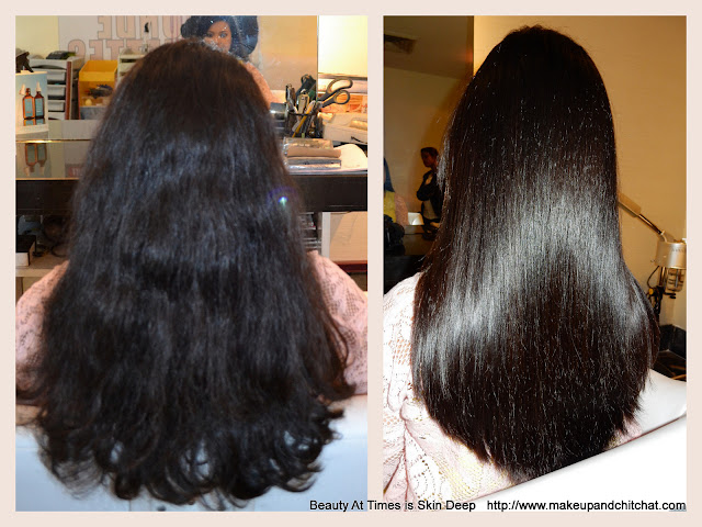 Moroccanoil Hair Smoothing Spa Treatment before and after