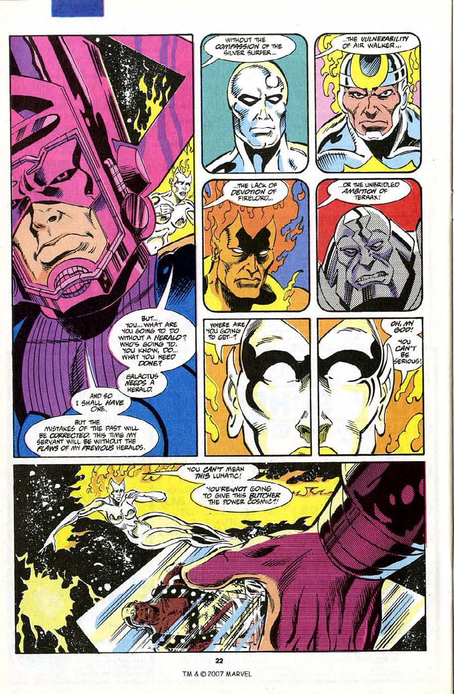 Read online Silver Surfer (1987) comic -  Issue #70 - 24