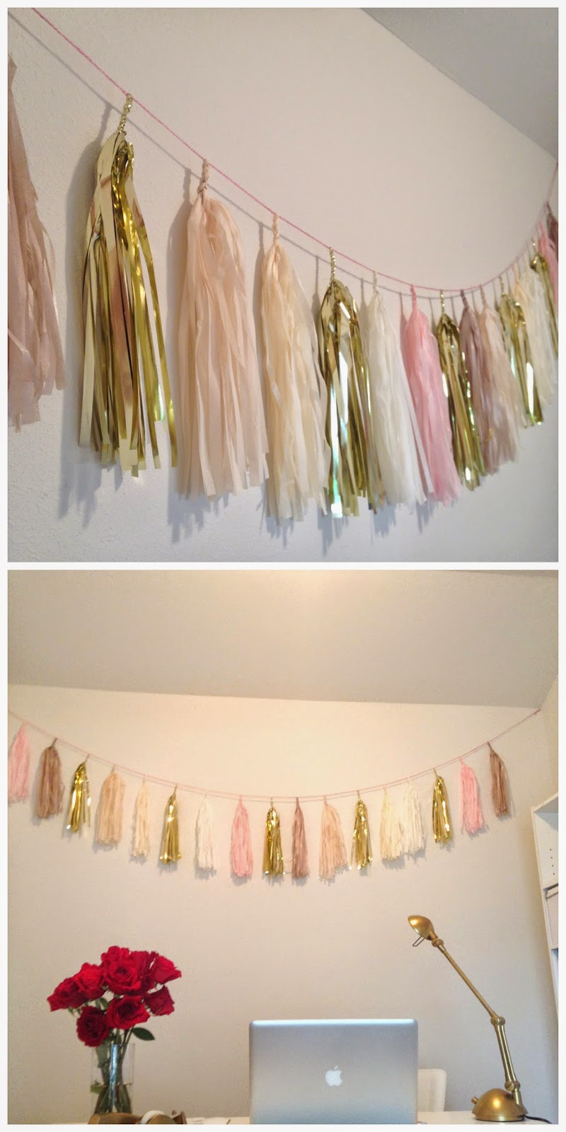 tassle garland decorate office etsy